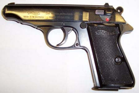 Post-war Walther PP pistol in .22LR.