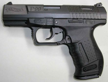 Walther P99 AS (Anti-Stress) pistol, 2nd generation.