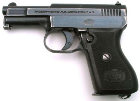 Mauser 1934 (or 1910-34) pistol, caliber 7.65mm (.32ACP); commercial version.