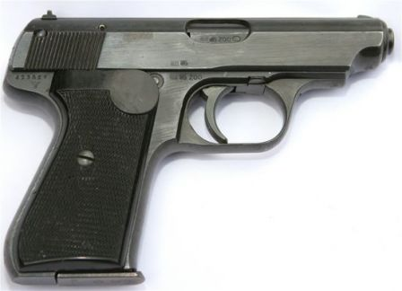 Sauer 38H pistol, right side.