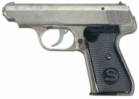 Sauer 38H pistol, probably made in the last days of WW2; it has no manual safety nor decocker lever; it is also has no finish on external surfaces.