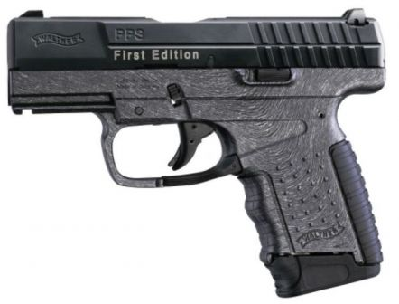 "Walther PPS pistol, limited production ""First edition"" in 9x19 caliber, with 7-round magazine."