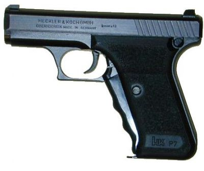 Heckler-Koch P7 PSP pistol, left side.