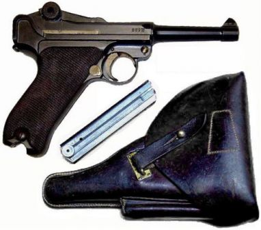 P-08 - standart sidearm of German Military during WW I and WW II.