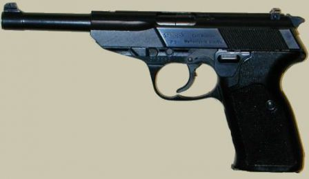 Walther P5 with long barrel.