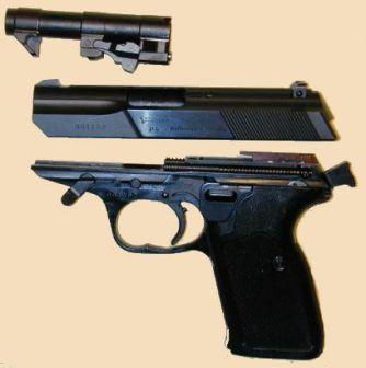 Walther P5 ana bölüme demonte.