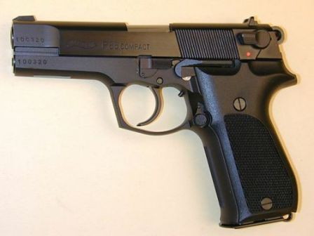 Walther P88 Compact (note slide mounted safety instead of frame mounted decocker of the early P88).