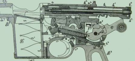 Mauser C-96 - same drawing, but bolt opened.