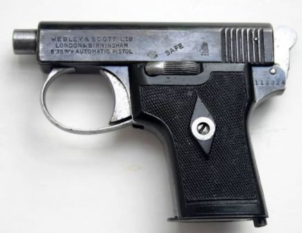 Webley Scott pocket-type automatic pistol, cal.25, model of 1906.