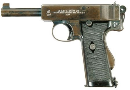 Webley Scott automatic pistol, cal.455, model of 1912 - Mark I Navy.