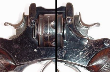 Right and left side views on Webley frame lock