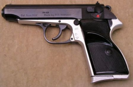 FEG PA-63 pistol, military version in 9mm Makarov caliber.