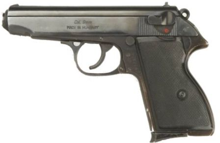 FEG AP-63 pistol, commercial version in 9mm Browning Short / .380 ACP caliber.