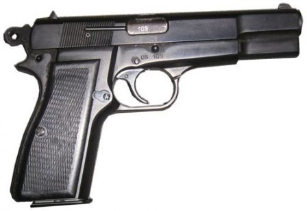 FEG P9M pistol, right side view.
