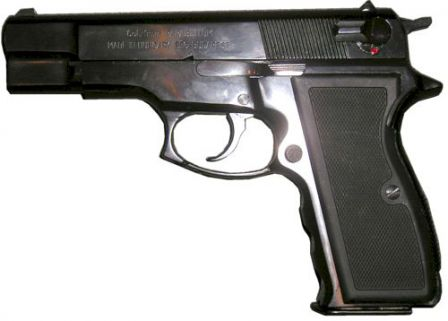 FEG P9RK (short barrel version), current manufacture, left side view.
