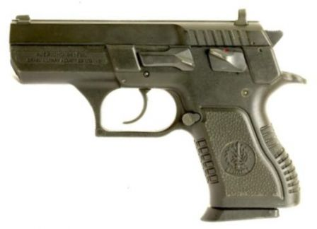 Compact Jericho 941 pistol with polymer frame.