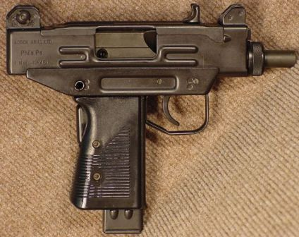 9mm UZI pistol, right side.