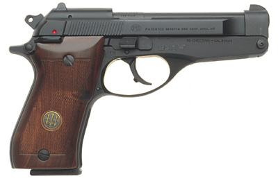 Beretta model 86, 9mm Short, tip-up barrel.