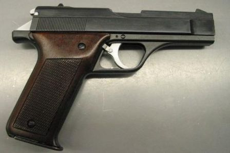 Benelli B76 pistol, right side.