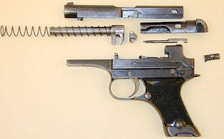 Пистолет Намбу Тип 94 / Nambu Type 94, неполная разборка.