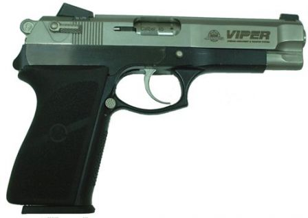 Viper pistol, right side view.
