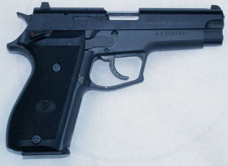 Daewoo DP-51 pistol, right side.