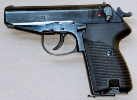 P-83 pistol, left side.