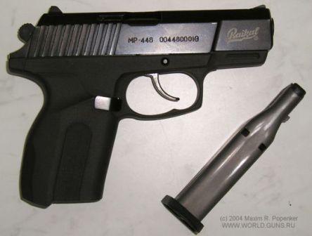 Dergisine MP-448 Skyph tabanca, sağ tarafta, kaldırıldı