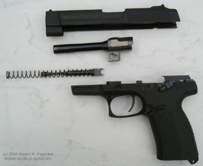 MP-446 'Viking' pistol, partially disassembled