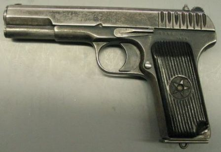 Tokarev TT mod.1933 pistol, left side view