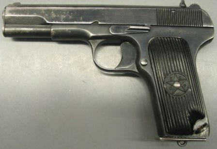 Tokarev TT-33, post-WW2 manufacture (with smaller slide serrations)