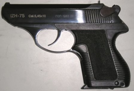 IZh-75, a commercial export version of the PSM pistol, with late model polymer grip panels
