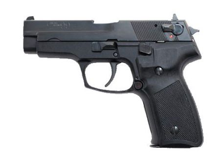 CZ-99S, with additional manual safety, mounted on the slide