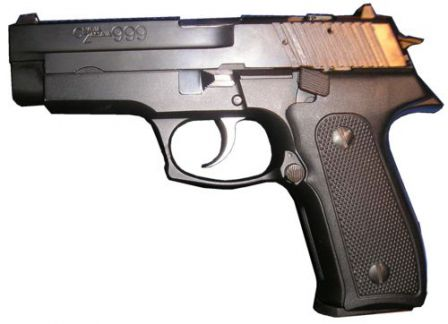 CZ-999 pistol, left side view