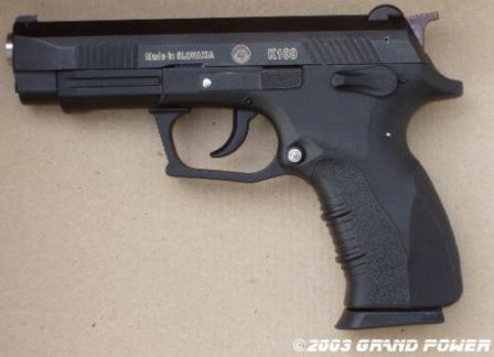 K100 pistol, left side view
