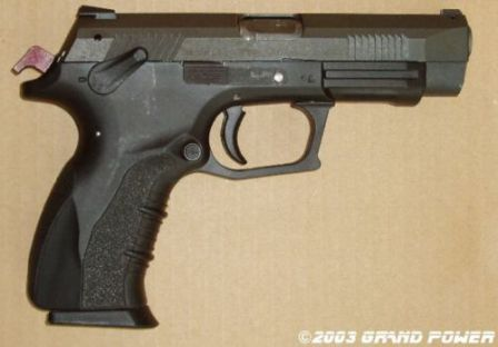 K100 Mk.6 pistol, right side view
