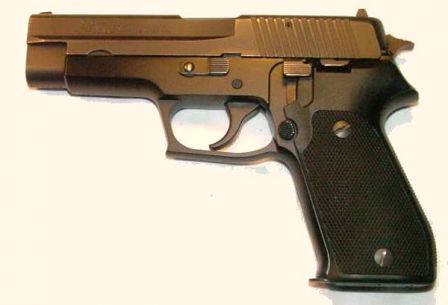 SIG-Sauer P220 pistol in .45ACP, with