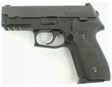 SIG-Sauer P229 pistol with accessory rail and DAO trigger (no decocking lever).