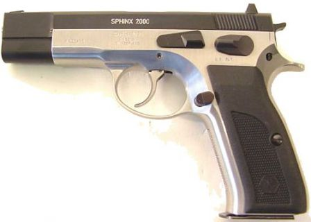 Sphinx 2000 pistol, left side