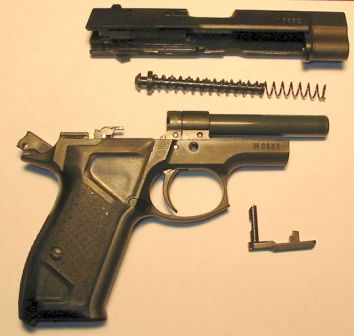 Fort 12 pistol, partially disassembled