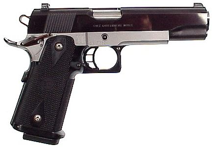 Custom M1911 clone, made on STI frame and Colt slide .45ACP
