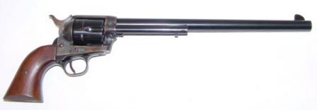 Colt 1873 Single Action Army, Buntline Special model with 12 inch barrel.