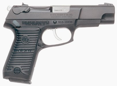 Ruger P89DC - 9mm, double action with decocker - direct descendant of the P85
