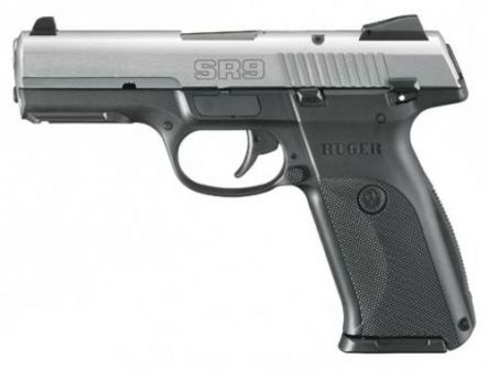 Ruger SR9 pistol, left side