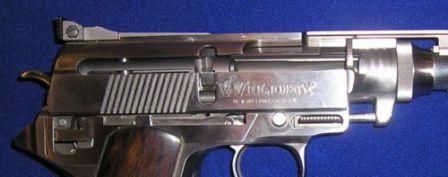 [parçası] Fabrika cut-out Wildey tabanca, gösteren, kilitleme sistemi ve tetikleme tertibatı