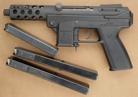 "Interdynamic KG-9 ""assault pistol"" with 20 and 30 round magazines"