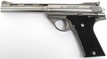 Erken üretim otomobili Mag modeli 180 tabanca, kalibre .44AMP, sol taraf