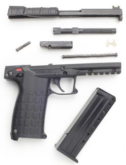 Kel-Tec PMR-30 pistol, partially disassembled