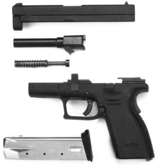 Partial disassembly of HS2000 pistol