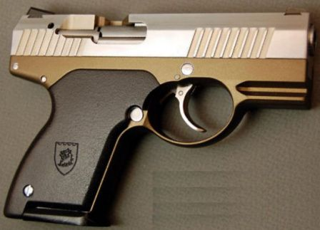 Prototype Boberg XR-9 pistol, right side